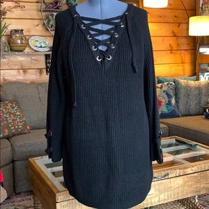 Military Hippie Knitted Tunic 1X/2X